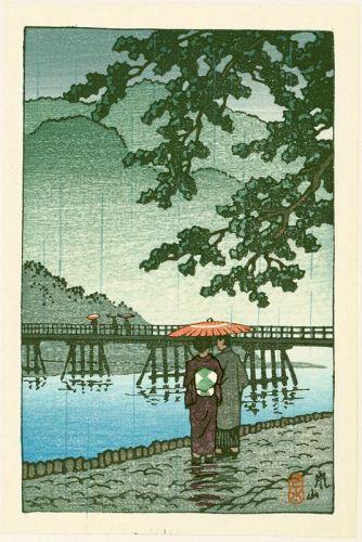 Kawase Hasui Japanese Woodblock Print - Arashiyama