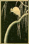 Ohara Koson (Shoson) Japanese Woodblock Print - Egret on Snowy Branch