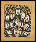 Sadao Watanabe Japanese Stencil Print - Sermon on the Mount 1968
