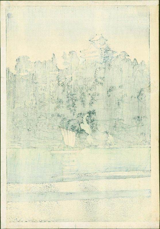 Kawase Hasui Woodblock Print - Kiso River, Inuyama - Pre-war SOLD