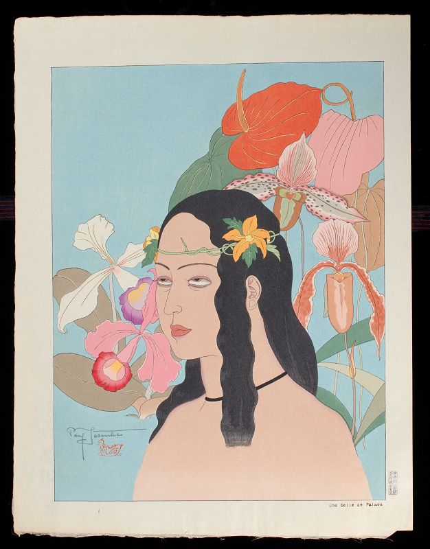 Paul Jacoulet Japanese Woodblock Print - Une Belle De Palaos SOLD