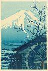 Hasui Kawase Japanese Woodblock Print - Mount Fuji in Winter SOLD