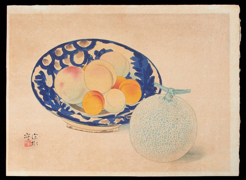 Ito Shinsui Japanese Woodblock Print - Peaches and Melon 1939