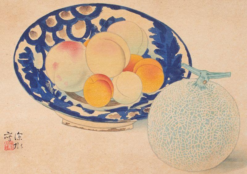 Ito Shinsui Japanese Woodblock Print - Peaches and Melon 1939