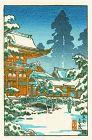 Tsuchiya Koitsu Japanese Woodblock Print - Kyoto Kamigamo