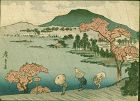 Hiroshige Ando Japanese Woodblock Print - Shower SOLD