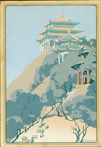 Cyrus LeRoy Baldridge Japanese Woodblock Print - Coal Hill 1925