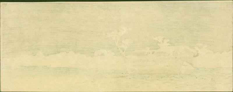 Takahashi Shotei Woodblock  Sumida Bank - The First Shin Hanga SOLD