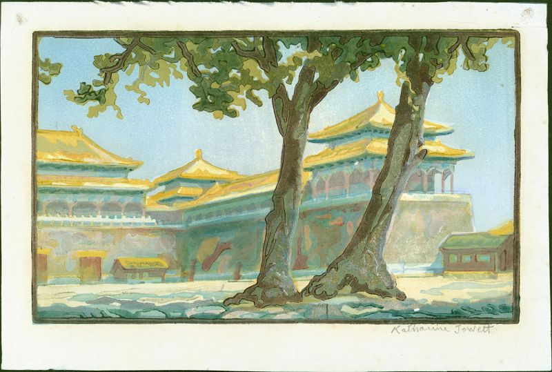 Katharine Jowett Woodblock Print - In the Forbidden City, Peking
