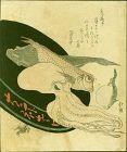 Totoya Hokkei Woodblock Print - Kanagawa Delicacies - Octopus SOLD