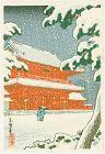 Tsuchiya Koitsu Japanese Woodblock Print  - Zojoji Temple in Tokyo