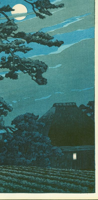 Kawase Hasui Japanese Woodblock Print - Moon at Magome SOLD