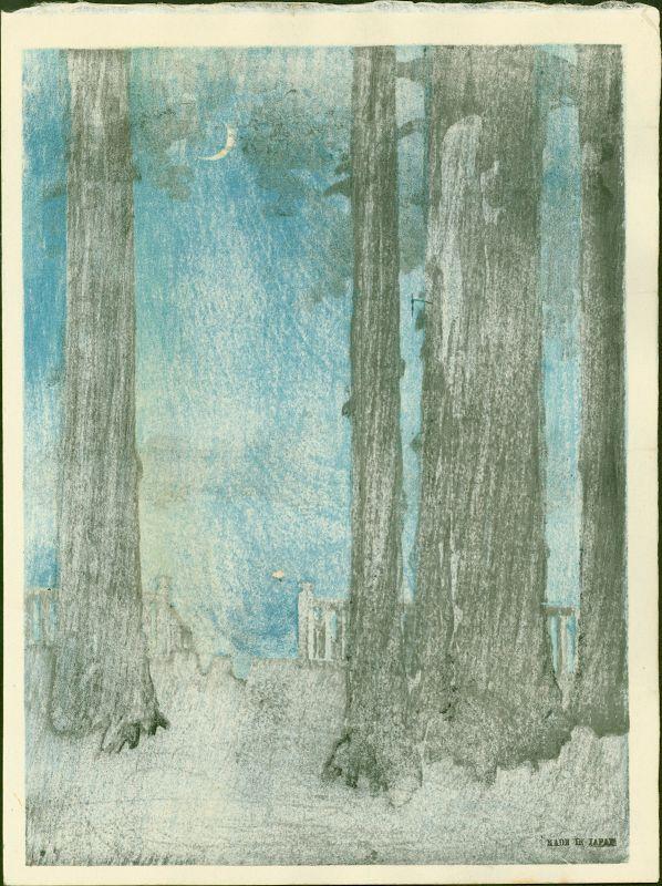 Shoda Koho Japanese Woodblock Print - Ueno Park - Hasegawa Night
