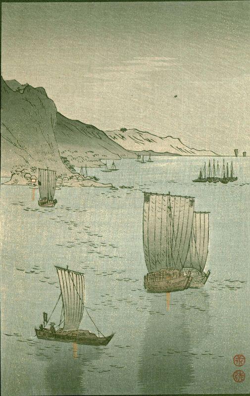 Tomioka Eisen Woodblock Print - Honmoku Yokohama - 1910 Matsumoto