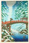 Tsuchiya Koitsu Japanese Woodblock Print - Nikko in Snow