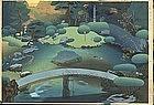 Ohno Bakufu Japanese Woodblock Print - Garden SOLD