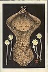 Kaoru Kawano Woodblock Print  - Dandelions