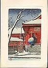Kawase Hasui Woodblock Print - Snow Scene (SOLD)