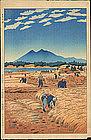 Shiro Kasamatsu Woodblock Print - Harvest - 1st Ed.