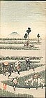 Japanese Woodblock Print - Travellers - Early 1900s SOLD