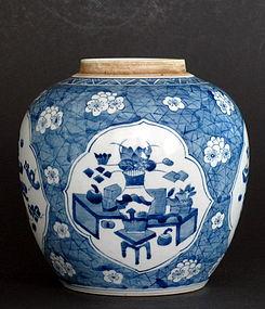 Chinese 18th Century Blue and White Jar