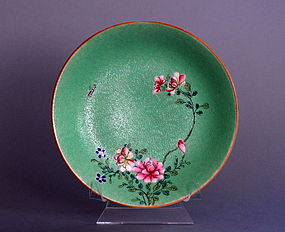 Famille Rose Plate, Qianlong Mark and Period