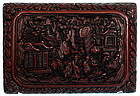 Chinese Carved Lacquer Box, Qianlong Mark