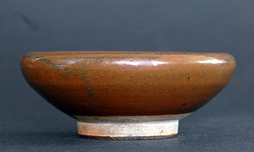 A Brown-glazed Ink bowl, Ming or early Qing Dynasty