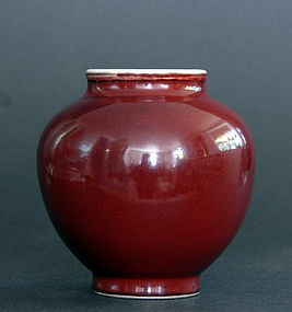 A Chinese Lang Yao Glazed Jar, Qing Dynasty
