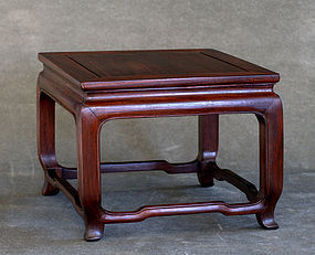 Chinese Zitan Stand, Qing Dynasty