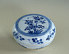 Chinese Blue and White Box, 18th Century