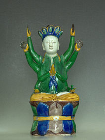 Chinese Eight Arms Guanyin Statue, Ming Dynasty