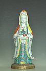Chinese Porcelain Guanyin Statue, 18th Century