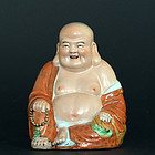 Chinese Porcelain Statue of  Maitreya by Zeng Longsheng