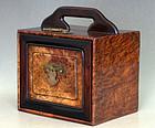 Zitan, Huanghuali and Huanghuali Burl Wood  Jewel Box