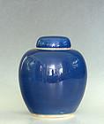 Lidded Blue (Jilan) Glazed Porcelain Jar, 18th Century