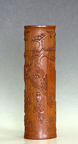 Chinese Bamboo Incense Holder, Qing Dynasty