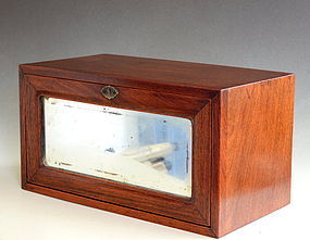 Rosewood  Box with Mirror, Late Qing or Early Republic