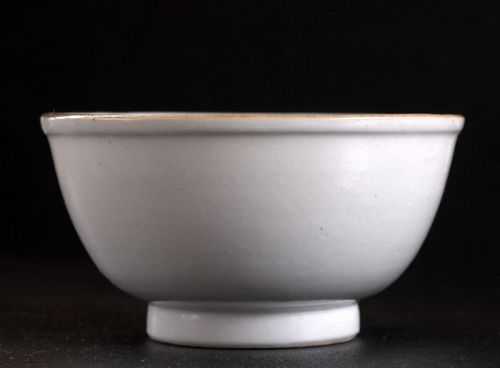 Chinese White Glazed Small Bowl, Ming Dynasty