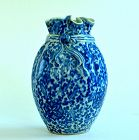 A Very Rare Chinese Blue and White Pouch-shaped Vase, 18th Century