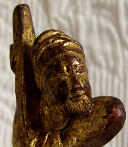 Antique Chinese carved wooden lacquer carving 2
