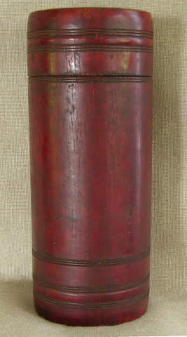 Antique Chinese Bamboo Tea Cannister