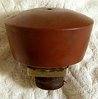 Antique Chinese stoneware opium pipe bowl