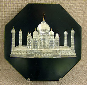 Anglo Indian Visagapatam stone tile MOP TajMahal inlay