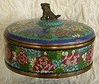 Antique Chinese Cloisonne 3 sectioned covered server