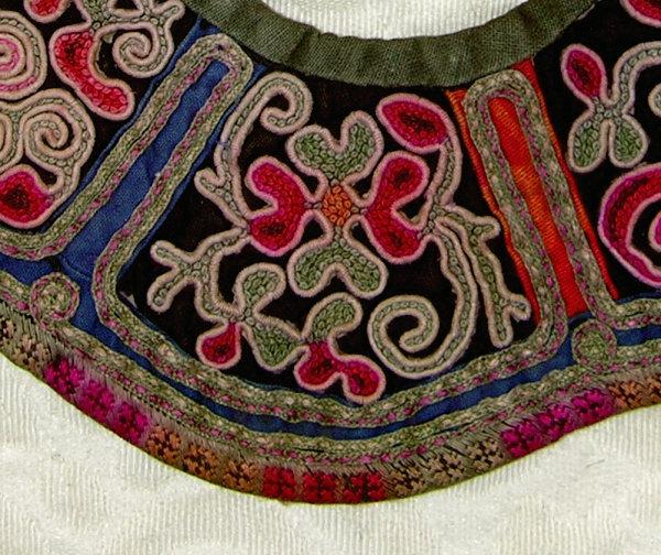 Antique Chinese Ethnic Minority Miao Child cloud collar