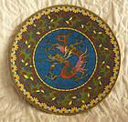 Late Edo Early Meiji Japanese small cloisonne plate