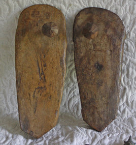 Antique pair of well worn Sadhu wooden sandals