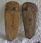 Antique pair of well worn Sadhu wooden sandals