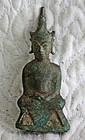 17th century cast small Southeast Asian Buddha